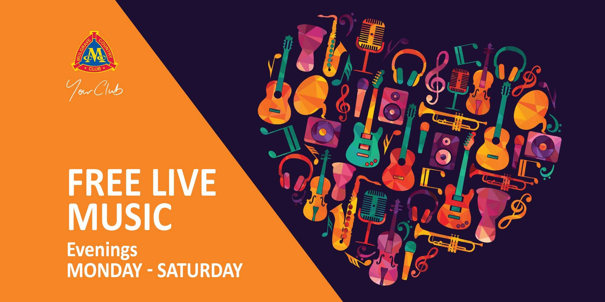 Free Live Music at Mulgrave Country Club