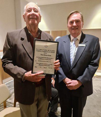 Leon Ross awarded life membership