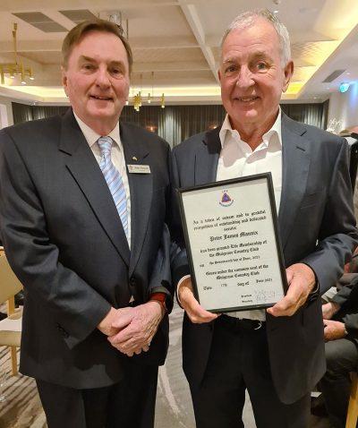 Peter Mannix awarded life membership